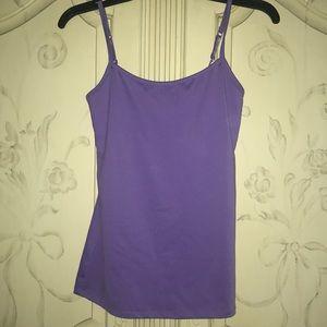 Stretchy purple cami